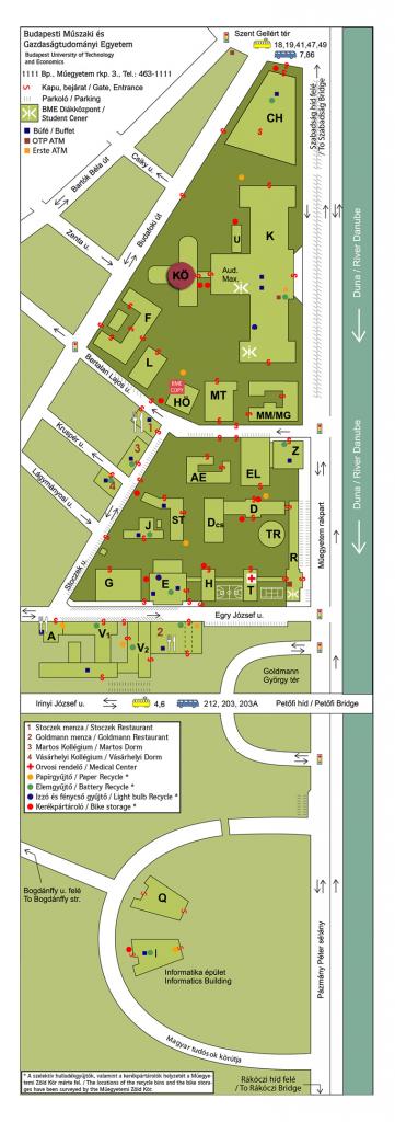 A BME térképe