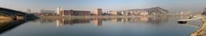 A BME épületei a Duna túloldalán